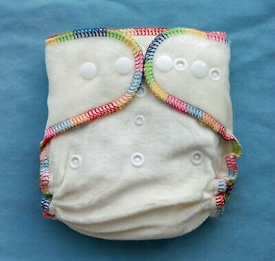 LOT 6 Newborn NB Bamboo Velour Tiny Cloth Diapers US SELLER