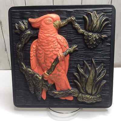 Vintage Miller Studio Bird 3D Wall Hanging Parrot Decor 60s Kitsch