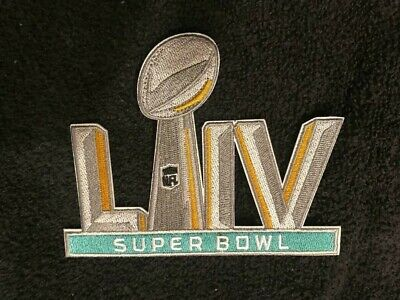 "Super Bowl 54 Patch LIV 5"" Embroidered High Stitch Quality Vivid True Colors New"