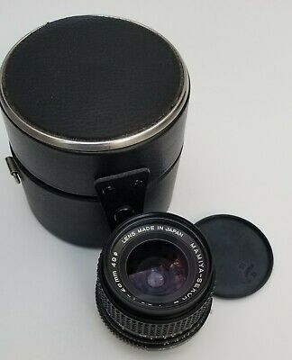 Excellent Condition MAMIYA SEKOR E Made in Japan 28 mm 1:3.5 with Caps and Case