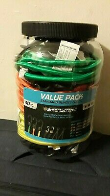 40 Pc Standard Bungee Cord Value Pack Smartstraps