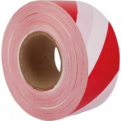 70mm - Barrier Tapes No.7405 Red & White Stripped Tape 500 Metre Roll