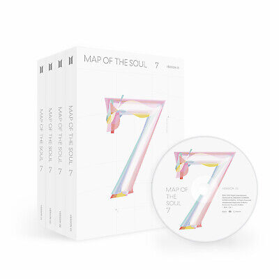 BTS - Map Of The Soul : 7 CD+Mini Book+Photocard+Sticker+Paper+Poster+Gift NEW