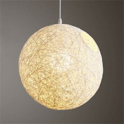 Rattan Wicker Ball Household Light Shade Lampshade Ceiling Pendant Variation