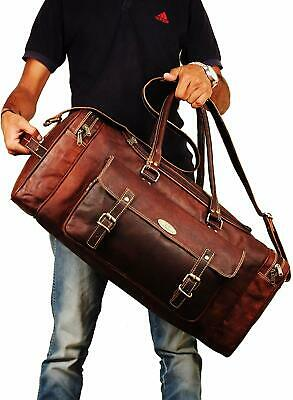 Leather Zippered Duffle Bag for Men | Men's Weekender Duffle