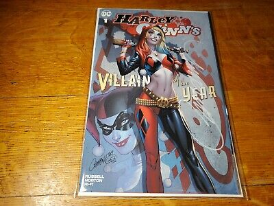 Harley Quinn Villain Of The Year 1 SIGNED J Scott Campbell A Variant COA