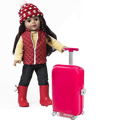 JDTEUS only Suitcase Travel Set  Suitcase For 18 inch  Girl Doll gift