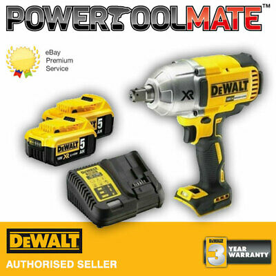 Dewalt DCF899P2 Brushless Impact Wrench High Torque 18V - 2 x 5 Ah (No Case)