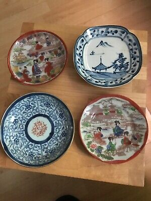 Various Lot Oriental Plates Chinese Japanese Pottery Small Saucer Size