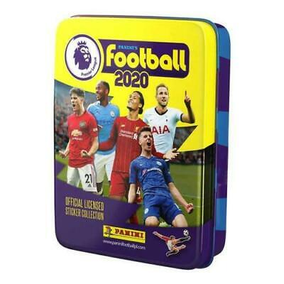 NEW! Panini Football 2020 Premier League Sticker Collection Pocket Tin 10x Packs