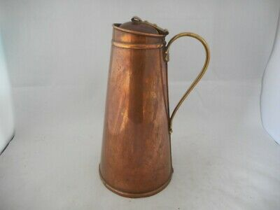 Arts & Crafts WAS BENSON Copper & Brass Water Jug - Railwayana?