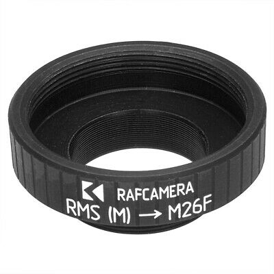 RMS Female to M26x0.75 Male Thread Adapter Black