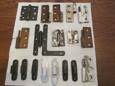 Iron Door Hinges Asst, 19th Century to New, 18 items
