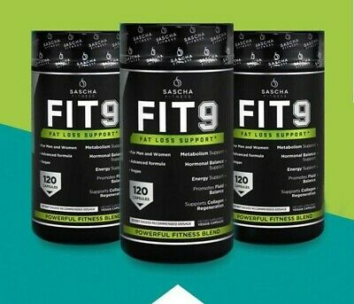 LOT OF 2 240 CAPSULES 2 FRASCOS SASCHA FITNESS FIT 9 FAT LOSS SUPPORT