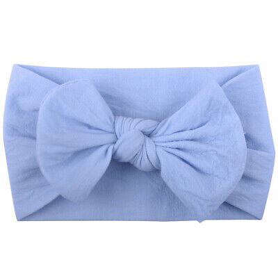 Baby Girls Daily Kids Headband Hair Accessories Bow Knots Elastic Solid Nylon
