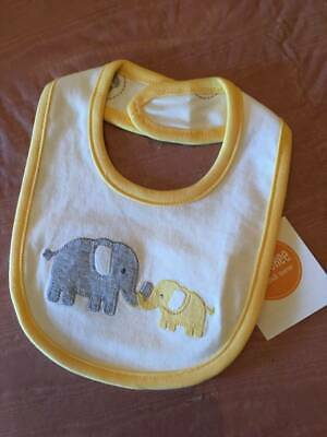 NWT Gymboree Brand New Baby Basics Elephant Bib Unisex Gray Yellow