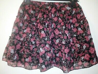 Bnwt Primark Young Dimension Girls fully lined Floral Skirt 10-11 years