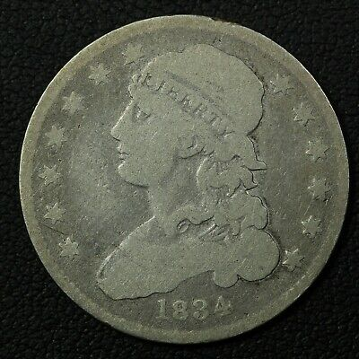 1834 Capped Bust Silver Quarter