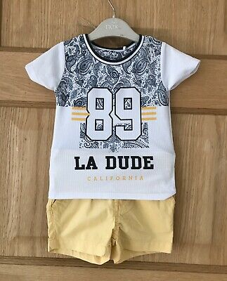 RIVER ISLAND NEXT *3-6m BABY BOYS Holiday OUTFIT SHORTS T-SHIRT 3-6 MONTH