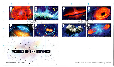 2020 GB VISIONS OF THE UNIVERSE First Day Cover Stamps +Machin Pane FDC 11/02/20