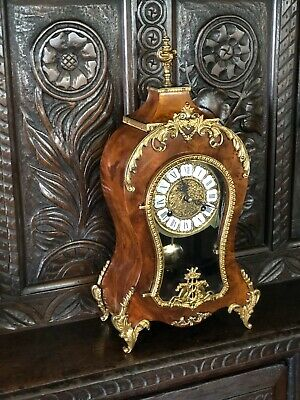 Rococo Style 8 Day Bracket / Mantel Clock Franz Hermle not Boulle Louis XV