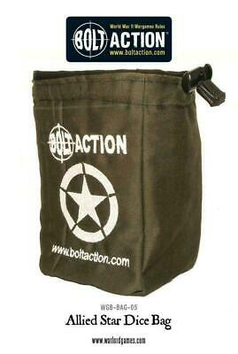 Bolt Action Allied Star Dice Bag & Order Dice (Green) New - 408903001