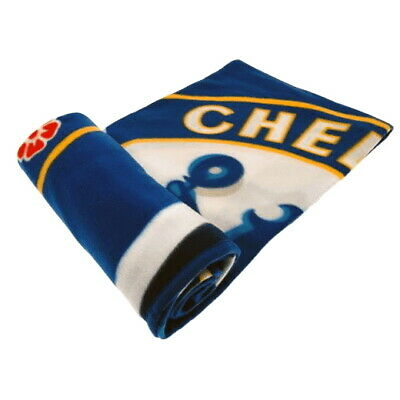 CHELSEA FC FLEECE BLANKET OFFICIALLY LICENSED FREE SHIPPING CANADA 60' x 50'
