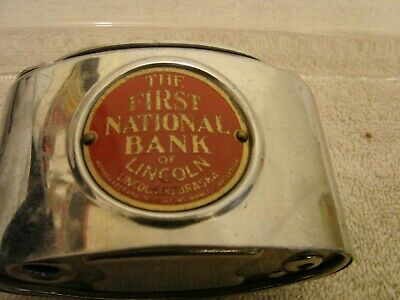 First National Bank Of Lincoln (Nebr.) Coin Bank No Key Money Inside