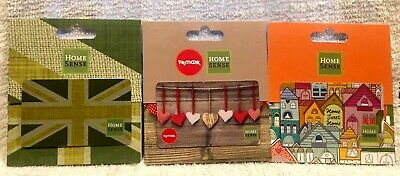 Lot of 3 UK England Home Sense / TK Maxx 2015 / 2016 Collectible Gift Cards