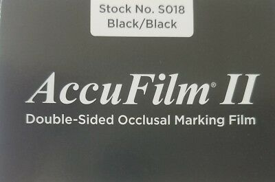 AccuFilm II Parkell Articulating Paper Double Sided Black 280 Pre-cut strips