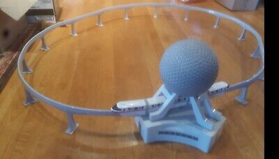 Retired Rare Collector Item Disney World Monorail Playset Epcot Spaceship Earth