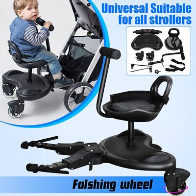 Universal Baby Sit Ride On Tandem Seat Board Attachment for Pram/Stroller SS