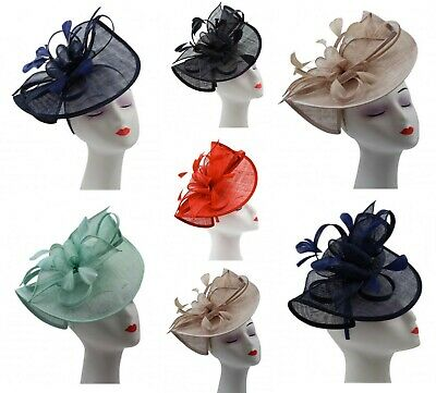 Large Aliceband Sinamay Wedding Fascinator Headband Ladies Day Races Royal Ascot