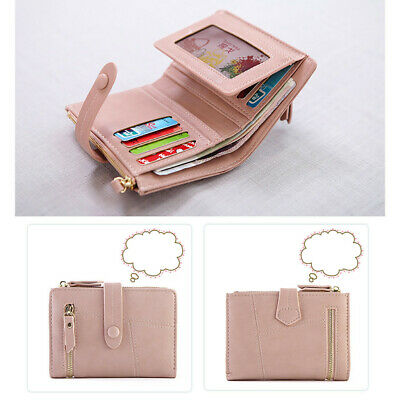 Women Short Wallets Mini Money Purses Leather Fold Ladies Coin Purse Card Holder