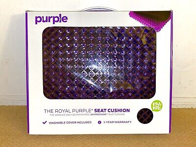 Royal Purple Seat Cushion Comfiest Science You Can Sit On Brand New