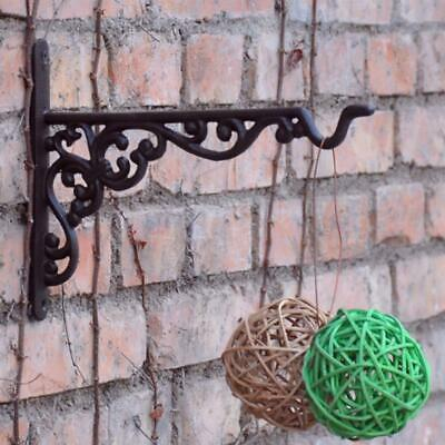 Multipurpose Cast Iron Basket Hanger f/ Potted Plant Wind Chime Bird Cage Feeder
