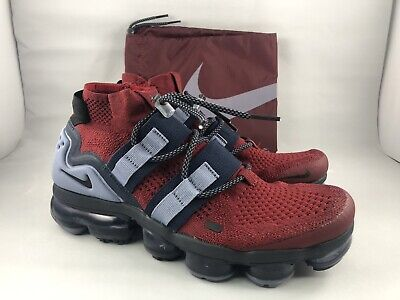 Air Vapormax Utility Team Red Flyknit Obsidian / Ashen Size 7.5 AH6834-600 New!