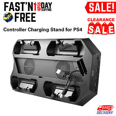 PS4 Cooling Fan Vertical Stand Charger Station with USB Ports for Playstation 4