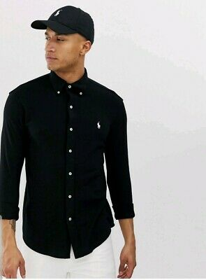 BNWT Mens Polo By Ralph Lauren slim fit shirt in black. RRP £95 Size M