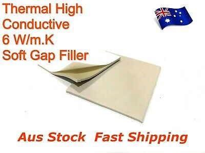 Thermal Silicone High Conductive Soft Pad 6 W/m.K Cooling Adhesive 0.5mm,1mm,2mm