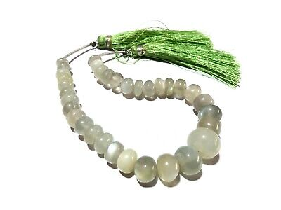 """1 Strand Natural White Moonstone Rondelle Smooth 5.5-11mm Gemstone Beads 6""""inch"""