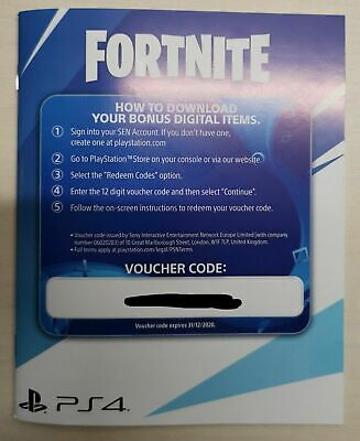 Pack Fortnite Neo Versa Bundle Voucher Code PS4 500 V-bucks included