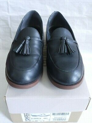 Camper BOWIE Black Servolux Negro Tassel Slip-On Brogue Loafer Shoes 39/6