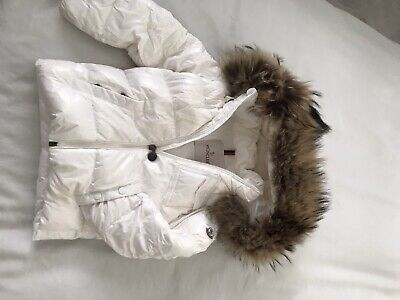 Real moncler unisex coat fur hood