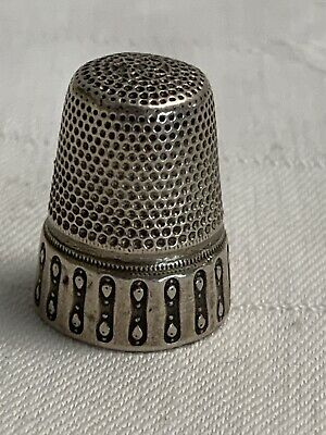 Art Deco Fingerhut Silber -Thimble Silver Antique
