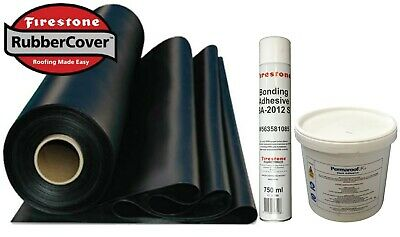 Rubber Roofing Kit For Flat Roofs - Firestone EPDM membrane & Adhesives Only