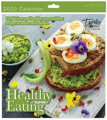 2020 Healthy Eating Square Wall Calendar - 05942.