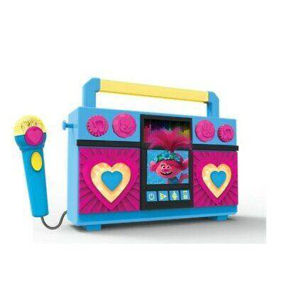 Trolls World Tour Sing-Along Boombox Kids Toy Microphone And Boombox