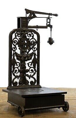 Huge Industrial 19th Century Cast Iron Wheat / Tobacco Scales by Parnall