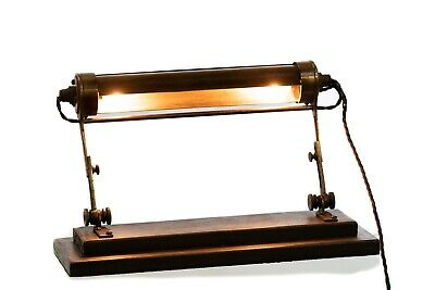 Antique Early 20th Century Art Deco Clerks Lamp Desk Table Lamp